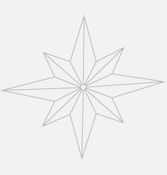 Image of eight-pointed star vector