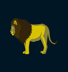 in flat style lion vector image