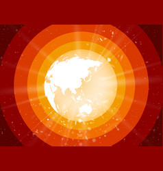 internet concept of global business planet earth vector image
