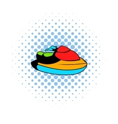 Jet ski water scooter icon comics style vector