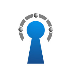 key abstract logo template vector image