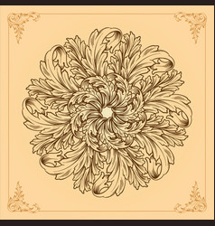 logo icon ornamental mandala design floral vector image