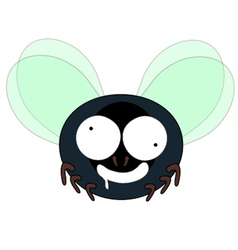 Mad fly cartoon vector