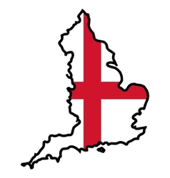 Map in colors of England vector image vector image