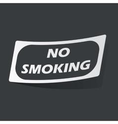 Monochrome No Smoking sticker vector