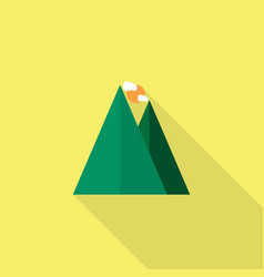mountain climbing icon set of great flat icons vector image