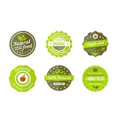 natural badges vector image