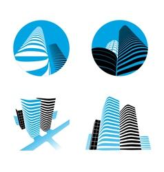 office buildings set vector image