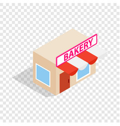 Pastry shop isometric icon vector