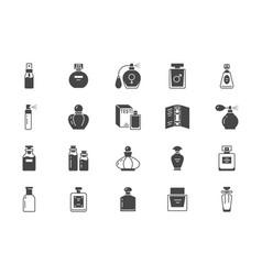 perfume bottles flat icons vector image
