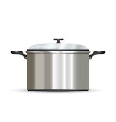 pot on white vector image