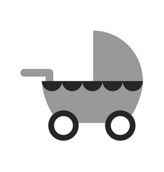 pram flat icon or object baby things motherhood vector image