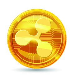 Ripple crypto currency block chain physical vector