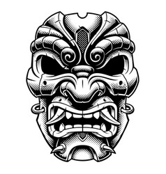 Samurai warrior mask vector