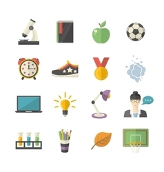 School icon set vector image vector image