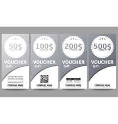 Set of modern gift voucher templates Dotted vector image