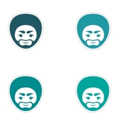 Set of stickers Indian man on white background vector