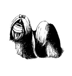 Shih tzu dog with mask vector