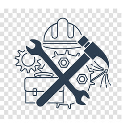 Silhouette icon of tools on labor day vector