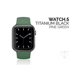 smart watch with pine green bracelet realistic vector image