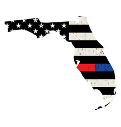 state florida police and firefighter support vector image