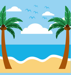 Summer day background vector