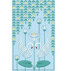 Swans in Love vector image vector image