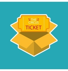 ticket circus design vector image