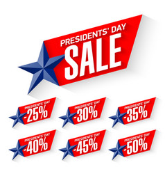 Usa presidents day sale discount labels vector