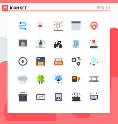 User interface pack 25 basic flat colors of vector