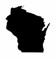 wisconsin silhouette map vector image