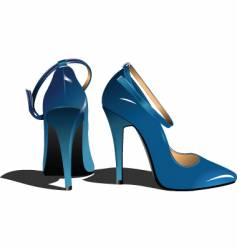 Woman's shoes vector