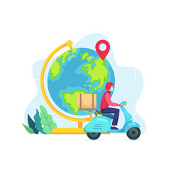 world wide delivery concept vector image