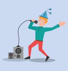 Young man party celebration vector