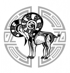 zodiac signs aries vector image