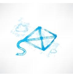 kite grunge icon vector image