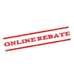 Online rebate watermark stamp vector