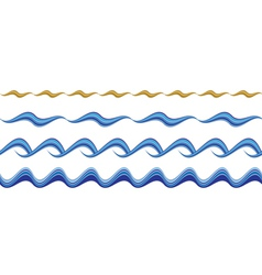 Seamless wavy borders vector image