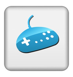 Square button with gamepad vector image vector image