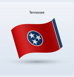 state of tennessee flag waving form vector image