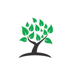 tree decorative logo image vector image vector image