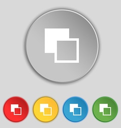 Active color toolbar icon sign Symbol on five flat vector image
