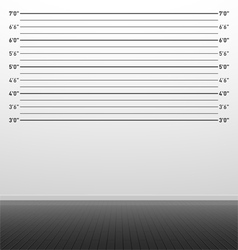 Police lineup background vector image vector image