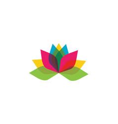 stylized lotus flower icon vector image