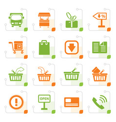stylized online shop icons vector image vector image