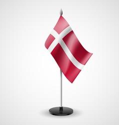 Table flag of denmark vector