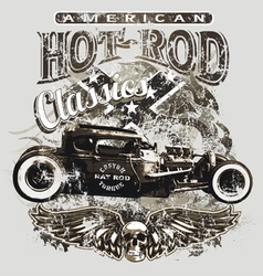 american custom rod classic vector image vector image