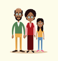 couple grandparents with grandchild family vector image vector image