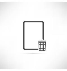 Empty Trash Icon vector image vector image