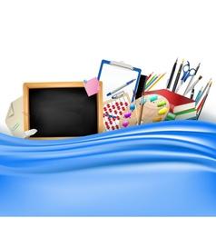 little blackboard border vector image vector image
